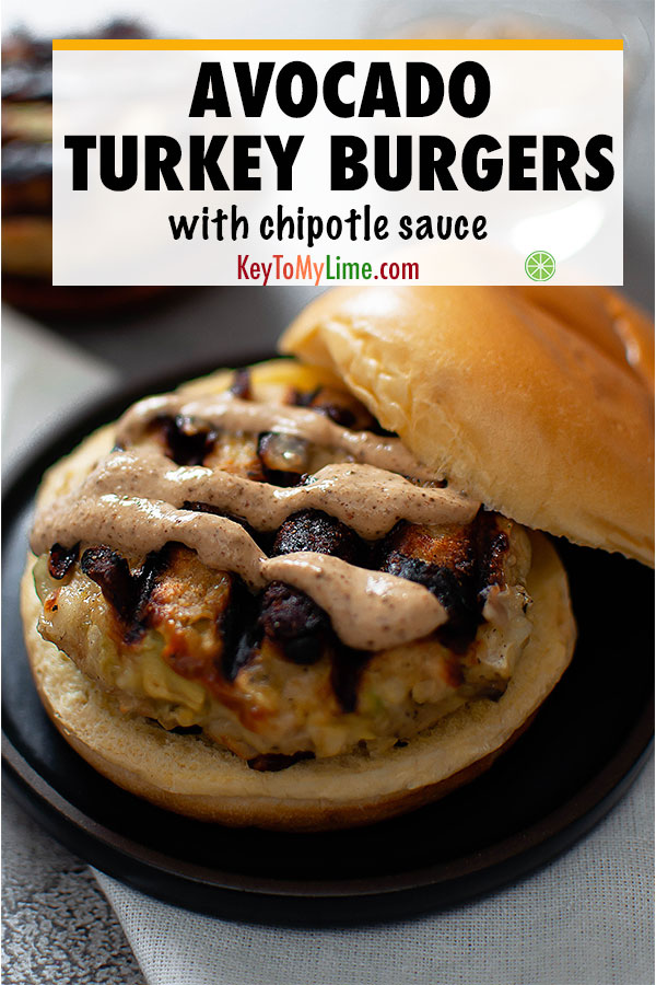 I LOVE this avocado turkey burger recipe! It's the best turkey burger! I made this easy healthy turkey burger on the stove. #turkeyburgers #avocado #turkeyrecipes #burger #burgerrecipes | keytomylime.com