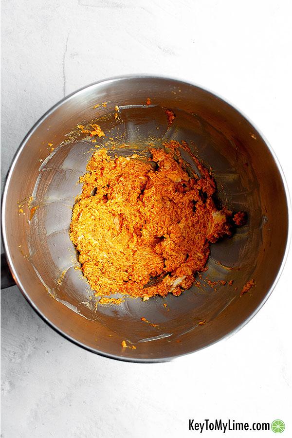 Pumpkin and butter mixed.