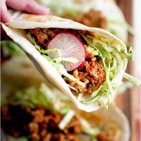 Creamy Cilantro Turkey Tacos