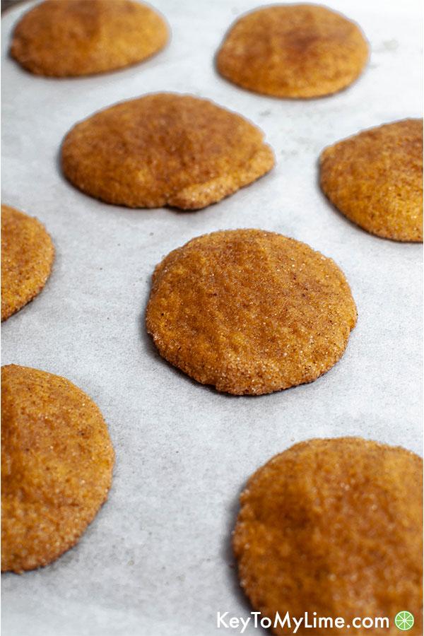 Pumpkin cake cookies.