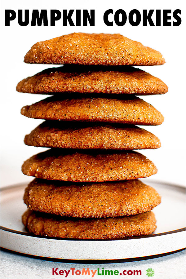 A stack of pumpkin cake cookies.