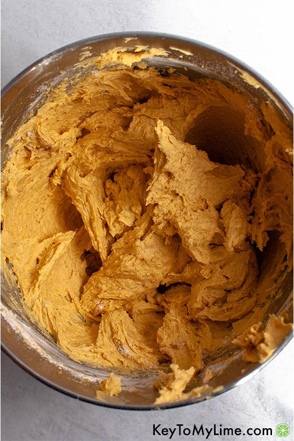 Pumpkin spice snickerdoodle cookie dough.