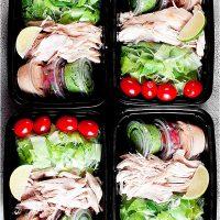 Rotisserie Chicken Taco Salad Meal Prep