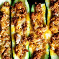 Turkey Zucchini Taco Boats