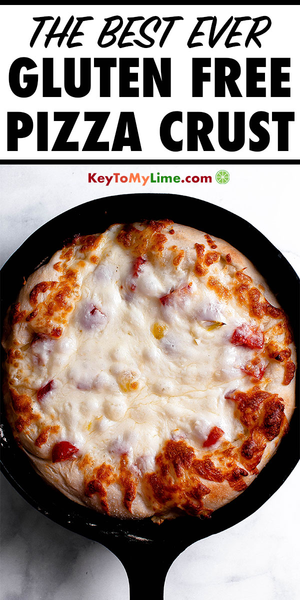 This is the BEST homemade pizza dough recipe! Seriously, I never would've guessed that it's gluten free! It's so chewy and delicious and stretchy. This is my go-to gluten free pizza dough recipe from now on. #pizza #pizzarecipes #pizzadough #glutenfreepizza #glutenfreepizzacrust | keytomylime.com