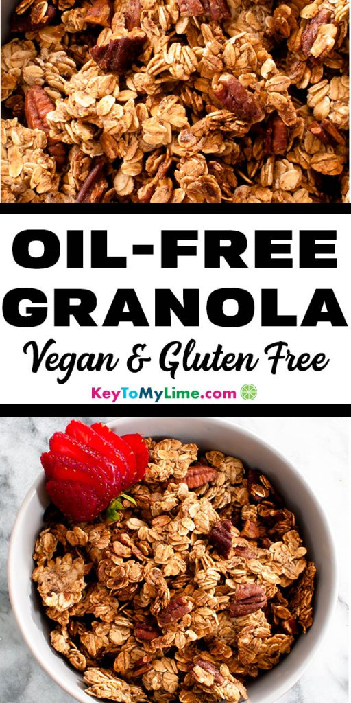 Two images of oil-free granola.
