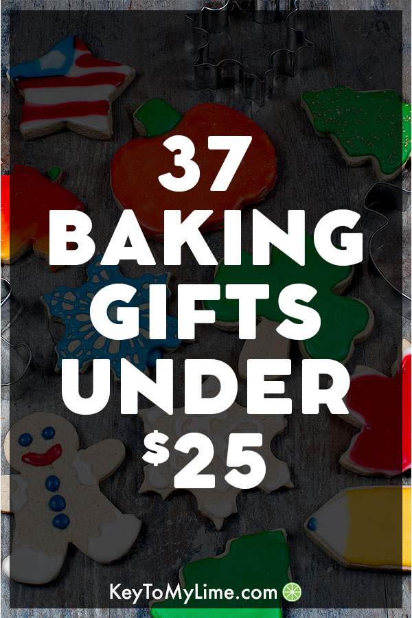 An image of gifts under $25 for bakers.