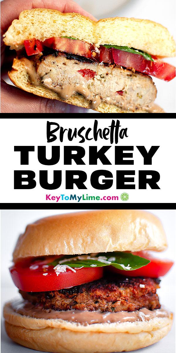 Turkey burger recipes, turkey burgers, turkey burgers healthy, turkey burgers on the stove, turkey burger recipes ground, turkey burger recipes healthy, turkey burgers on the grill, low carb turkey burgers, easy turkey burgers, turkey burger seasoning, bruschetta turkey burgers, caprese turkey burgers, juicy turkey burgers, keto turkey burgers, best turkey burgers, homemade turkey burgers, stuffed turkey burgers | #turkeyburger #burgers #bruschetta #healthydinner #groundturkey | keytomylime.com