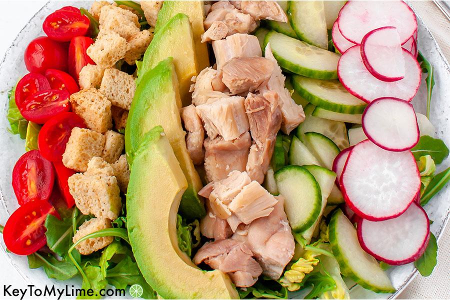 Chicken caesear cobb salad.