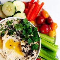 Roasted Cauliflower Hummus (Whole30, Paleo, Keto, Vegan)