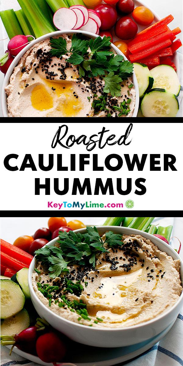 Cauliflower hummus, cauliflower hummus keto, cauliflower hummus whole30, cauliflower hummus recipe, cauliflower hummus vegan, cauliflower hummus easy, cauliflower hummus roasted, cauliflower hummus low carb, cauliflower hummus paleo, cauliflower hummus garlic, cauliflower hummus delish, low carb hummus, low carb hummus recipes, keto hummus, keto hummus low carb, keto hummus snacks, paleo hummus, paleo hummus recipe, paleo hummus clean eating | keytomylime.com