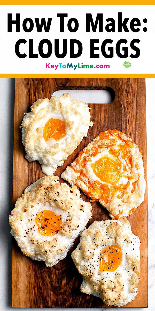 Cloud eggs, cloud eggs recipes, cloud eggs delish, cloud eggs real simple, ni d ouef, egg nests, egg nests breakfast, egg recipes, egg recipes for breakfast, healthy egg recipes, vegetarian egg recipes, easy egg recipes, keto egg recipes, low carb egg recipes, baked egg recipes, best egg recipes, paleo egg recipes, creative egg recipes, spicy egg recipes, French egg recipes, different egg recipes, egg recipes oven. #cloudeggs #bakedeggs #eggs #eggrecipes #ketobreakfast | keytomylime.com